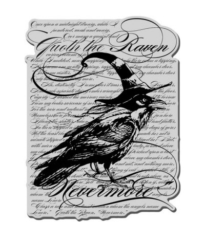 Stampendous Cling Stempel Raven Background