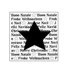 Stern auf Schrift Holzstempel