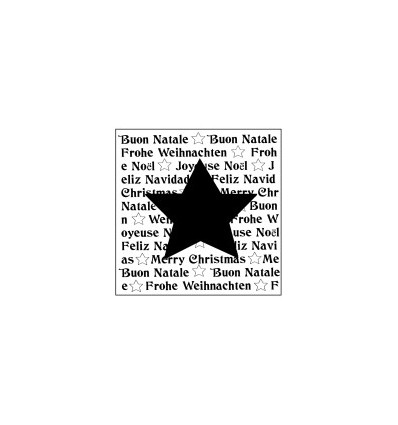 Stern auf Schrift Stempel