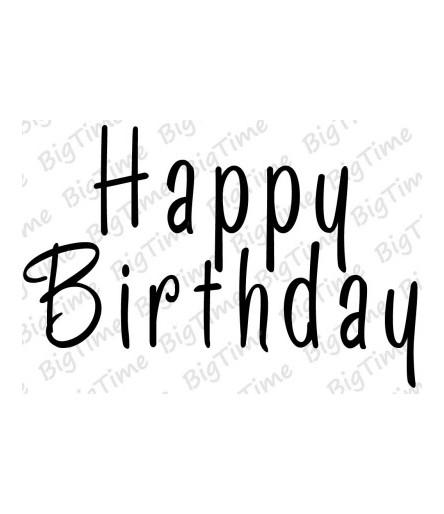 Happy Birthday Stempel