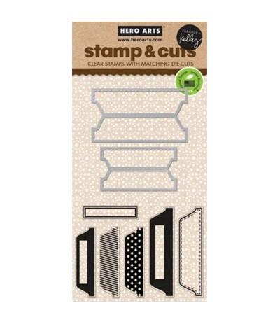Hero Arts Stamp&Cut Scored Tabs