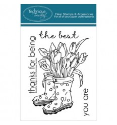 Technique Tuesday Clear Stamps Beautiful Tulips