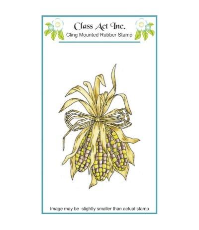 Class Act Cling Stempel Decorative Corn