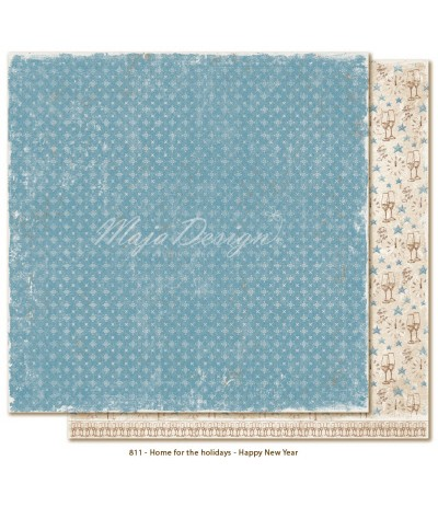 Home for the Holidays Happy New Year Maja Design Scrapbook Papier