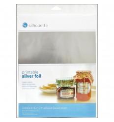 Printable adhesive silver foil