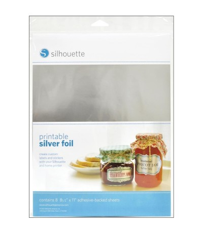 Selbstklebende Bedruckbare Klebefolie/Vinylfolie Silber von Silhouette