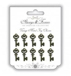 Kleine Metall Schlüssel Always & Forever