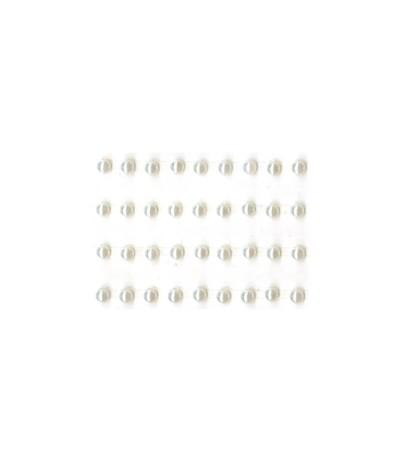 Selbstklebende Perlen weiss, 3mm - Kaiser Craft