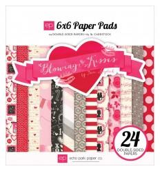 """Scrapbooking Papier Blowing Kisses 6x6"""" - Echo Park"""