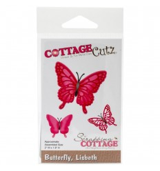 Stanzschablone Butterfly Lisbeth - Cottage Cutz