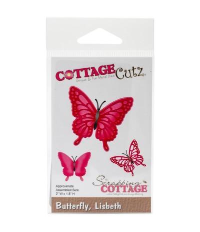 Stanzschablone Butterfly Lisbeth - Cottage Cutz