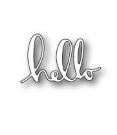 Stanzschablone Hip Hello - Memory Box Poppystamps