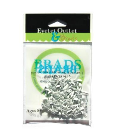 Brads Rund Weiss 4mm - Eyelet Outlet