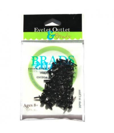 Brads Rund Schwarz 4mm - Eyelet Outlet