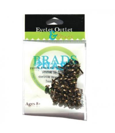 Brads Brushed Brass 4mm - Eyelet Outlet