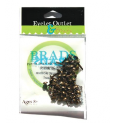 Brads Brushed Silver 4mm - Eyelet Outlet