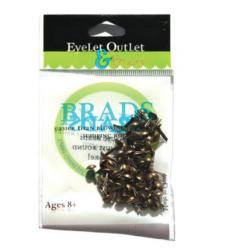Eyelet Outlet Brads Brushed Silver 4mm