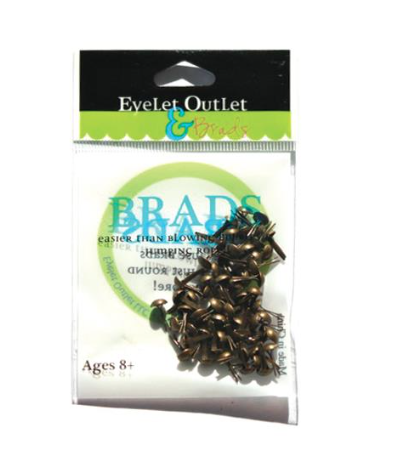 Brads Brushed Silver 4mm - Eyelet Outlet
