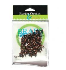 Eyelet Outlet Brads Brushed Copper 4mm