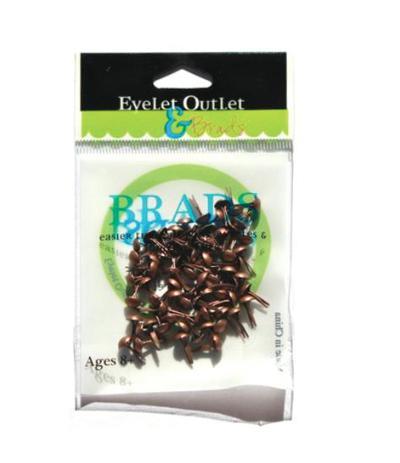 Brads Brushed Copper 4mm - Eyelet Outlet