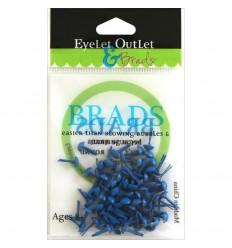 Eyelet Outlet Brads Rund Blau 4mm