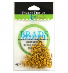Brads Rund Gelb 4mm - Eyelet Outlet