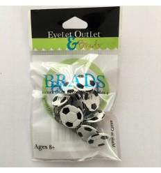Eyelet Outlet Brads Rund Weiss 4mm