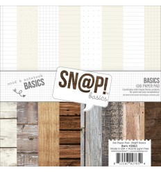 "Scrapbooking Papier Wood & Notebook 6x6"" - Snap Basics"