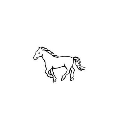 Mini Stempel Pferd