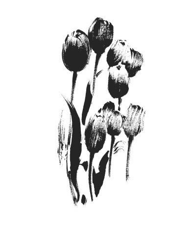 Tulpen Holzstempel - Penny Black