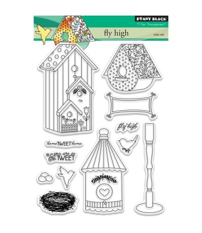 Fly High Clear Stamps - Penny Black