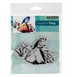 Vogel auf Blumentopf Cling Stempel - Penny Black