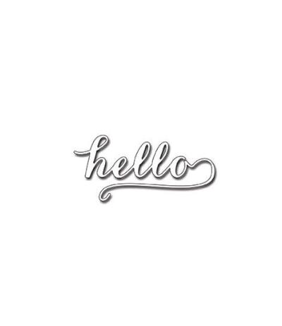 Stanzschablone Hello - Penny Black