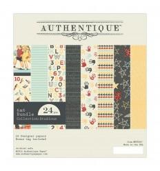 Scrapbooking Papier Collection Studious 6x6 - Authentique