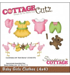 Stanzschablone Baby Girls Clothes - Cottage Cutz