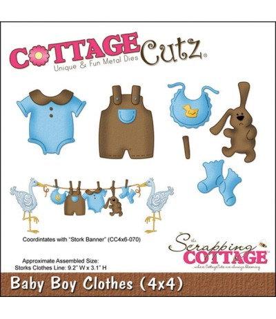 Stanzschablone Baby Boy Clothes - Cottage Cutz