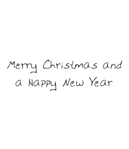 Merry Christmas and a Happy New Year Stempel