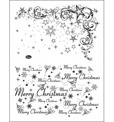 Weihnachtssterne & Merry Christmas - Clear Stamps