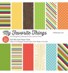 "Scrapbooking Papier Trail Mix, 6"" x 6"" - My Favorite Things"
