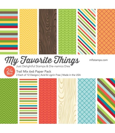 "Scrapbooking Papier Trail Mix, 6"" x 6"" - My Favorite Things"