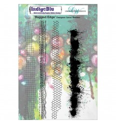 Rugged Edge Cling Stempel - Indigo Blu