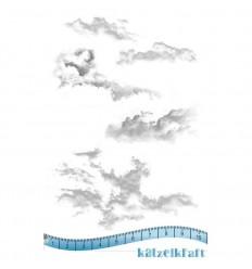 Wolken Gummistempel unmontiert - Katzelkraft