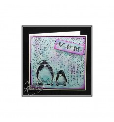 Pinguine Gummistempel unmontiert - Katzelkraft