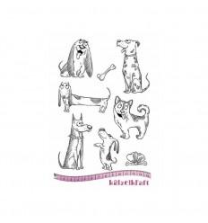 Hunde Gummistempel unmontiert - Katzelkraft
