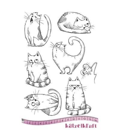 Katzen Gummistempel unmontiert - Katzelkraft