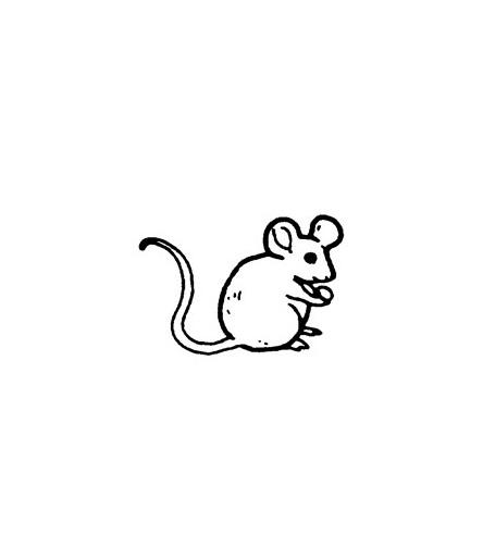 Mini Stempel Maus