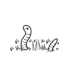 Mini Stempel Wurm