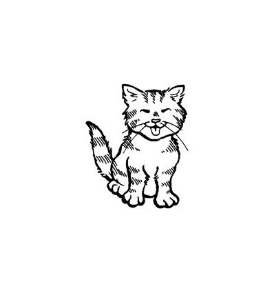 Mini Stempel Katze sitzend
