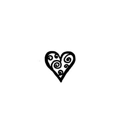 Kringel-Herz Stempel