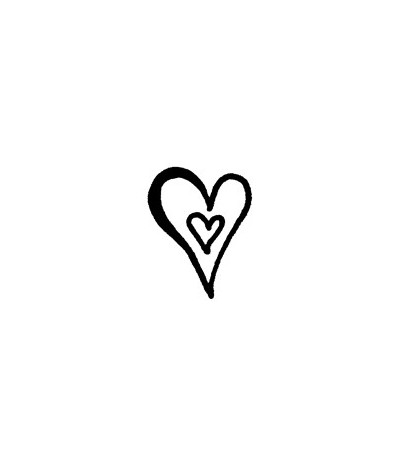 Doppel-Herz Stempel